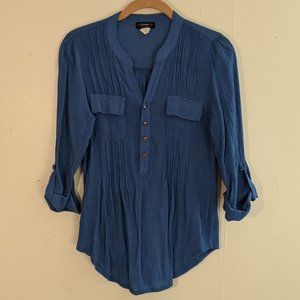 Cocomo Petite Fitted Button Down Top Size PM